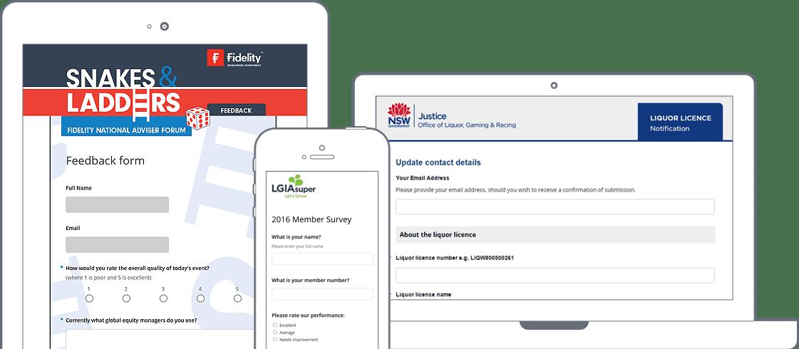 Online Survey Screens