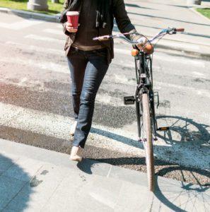Businesswoman Bike
