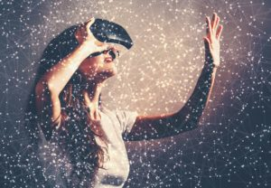 Person wearing VR - Role of Event Manager
