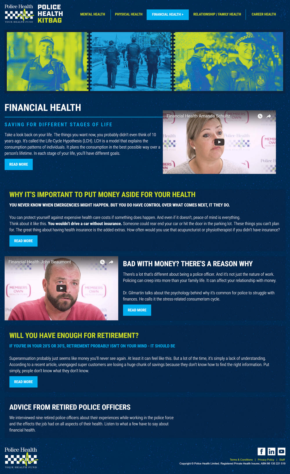 Police Health - Financial Health