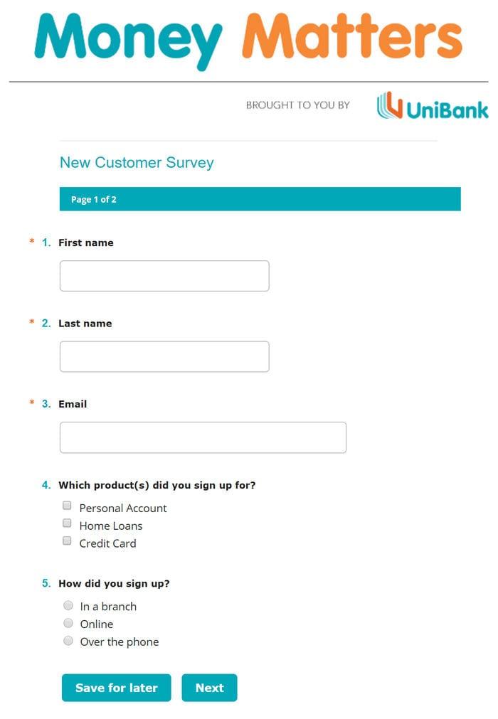 UniBank Survey