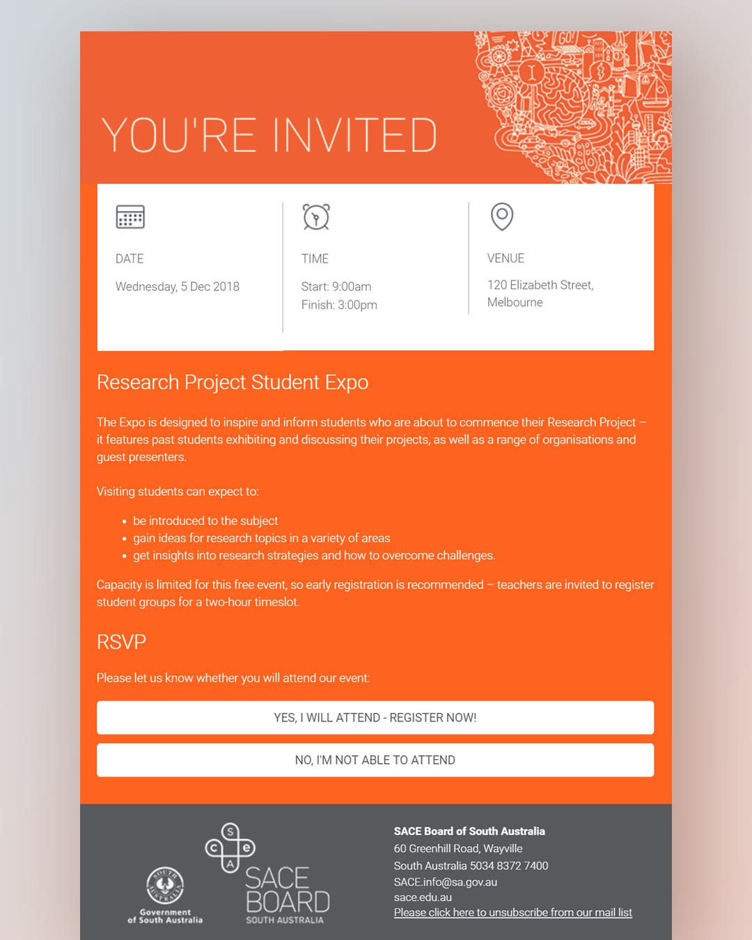 SACE Invitation