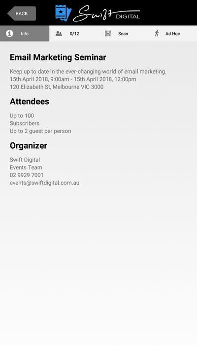 Event App Info
