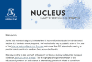 The University of Melbourne - Nucleus Newsletter
