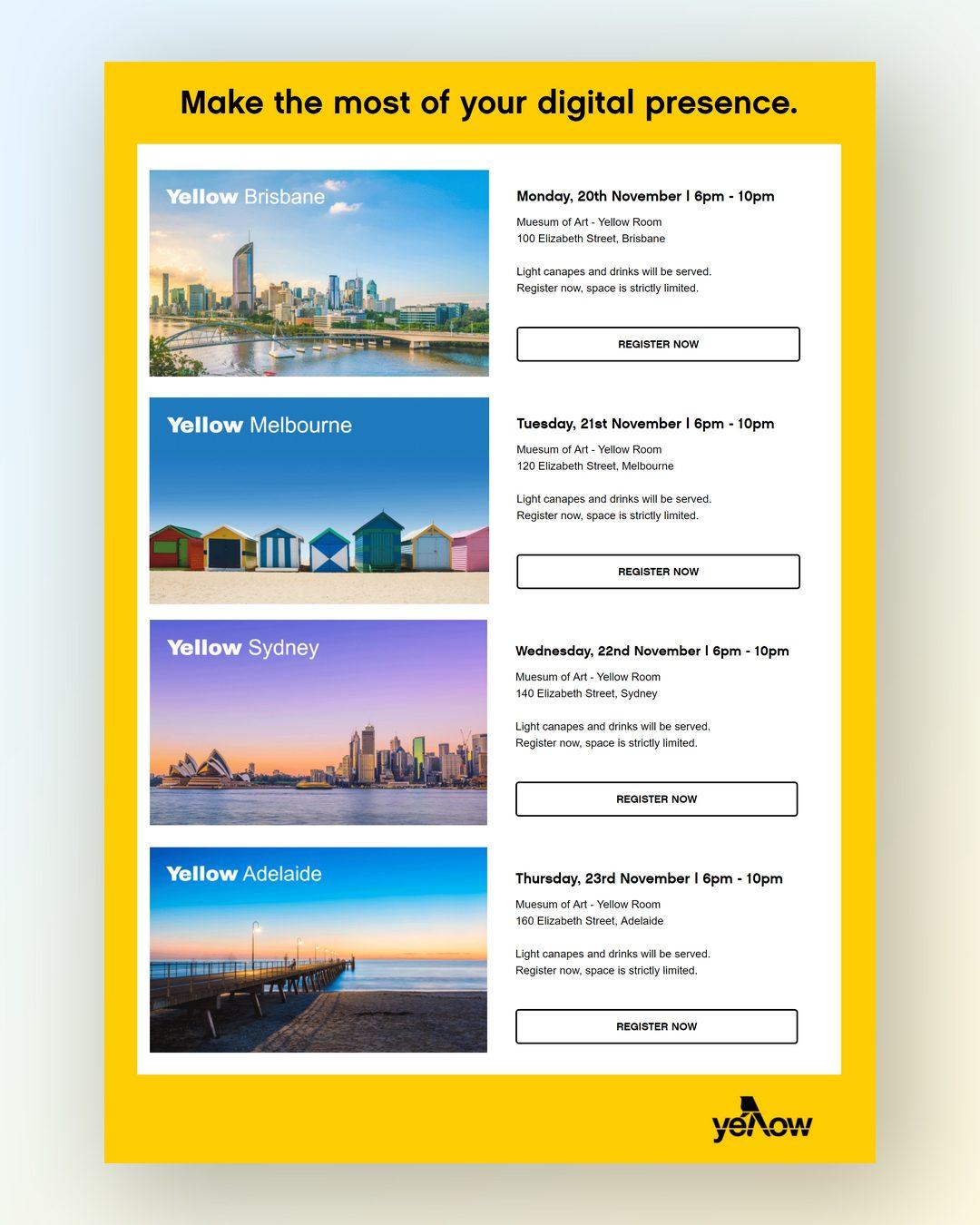Yellow Landing Page