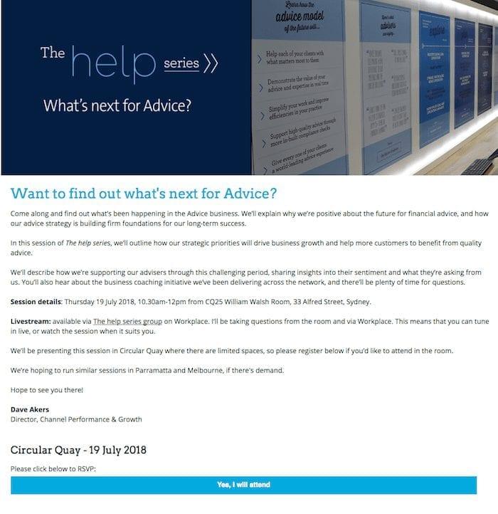 AMP bank landing page
