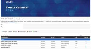 QBE Events Calendar