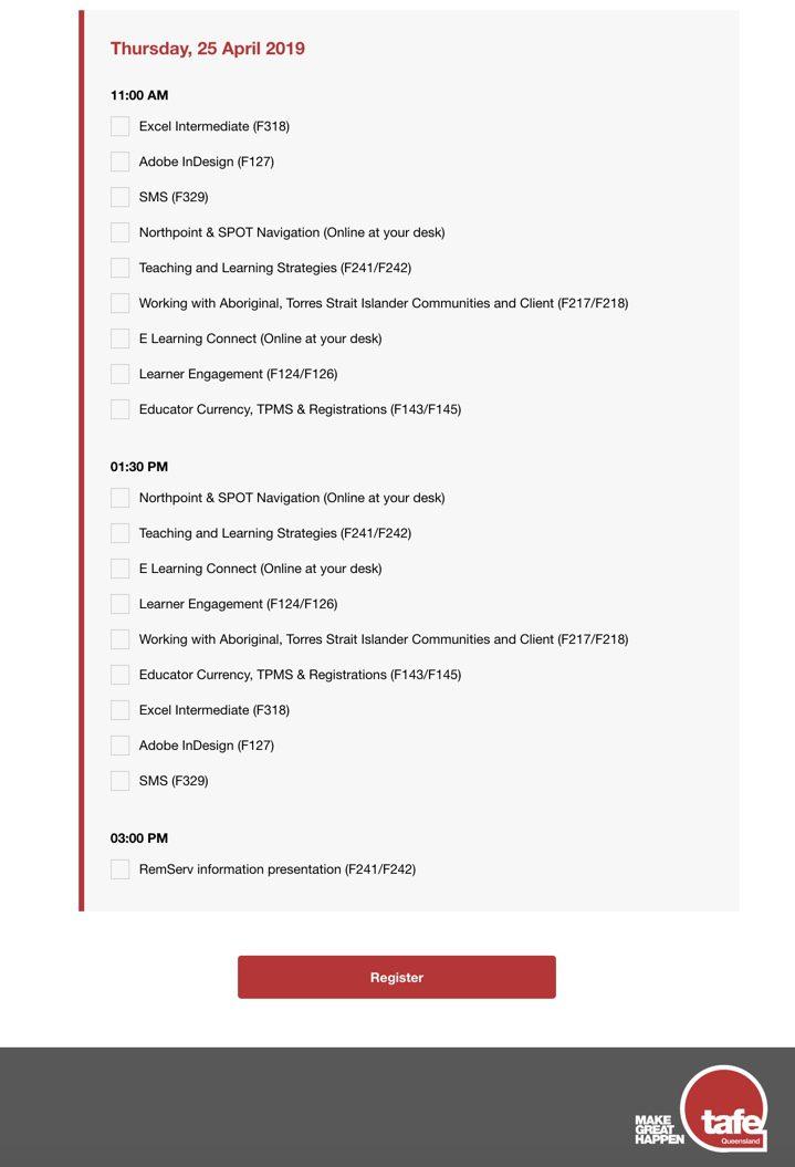 tafe-queensland-custom-registration-form