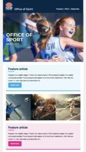 office of sport newsletter