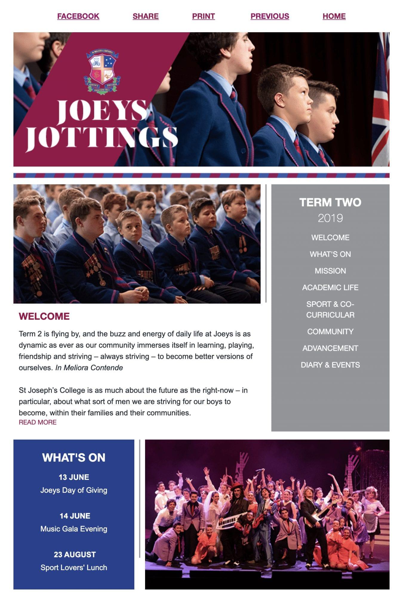 joeys jotterings newsletter