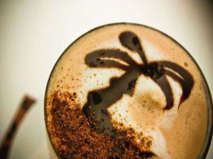 coffee art palm tree