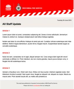 internal communication examples urgent update