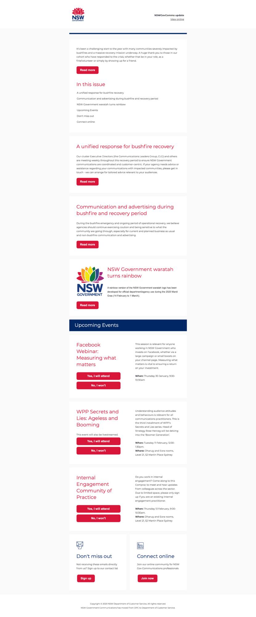 Customer Service NSW Newsletter
