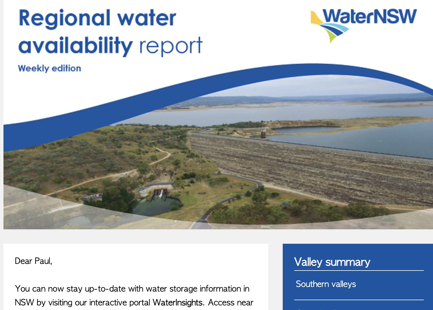 Water NSW