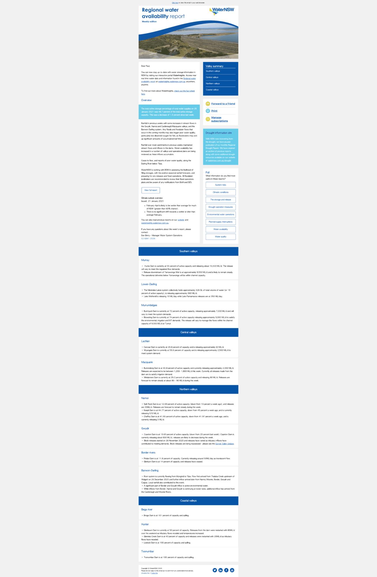 Water NSW Newsletter