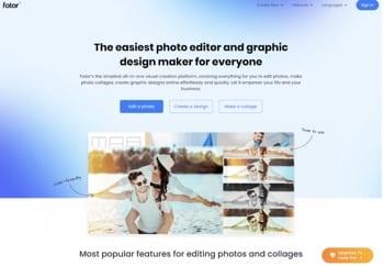 free online photo editors fotor