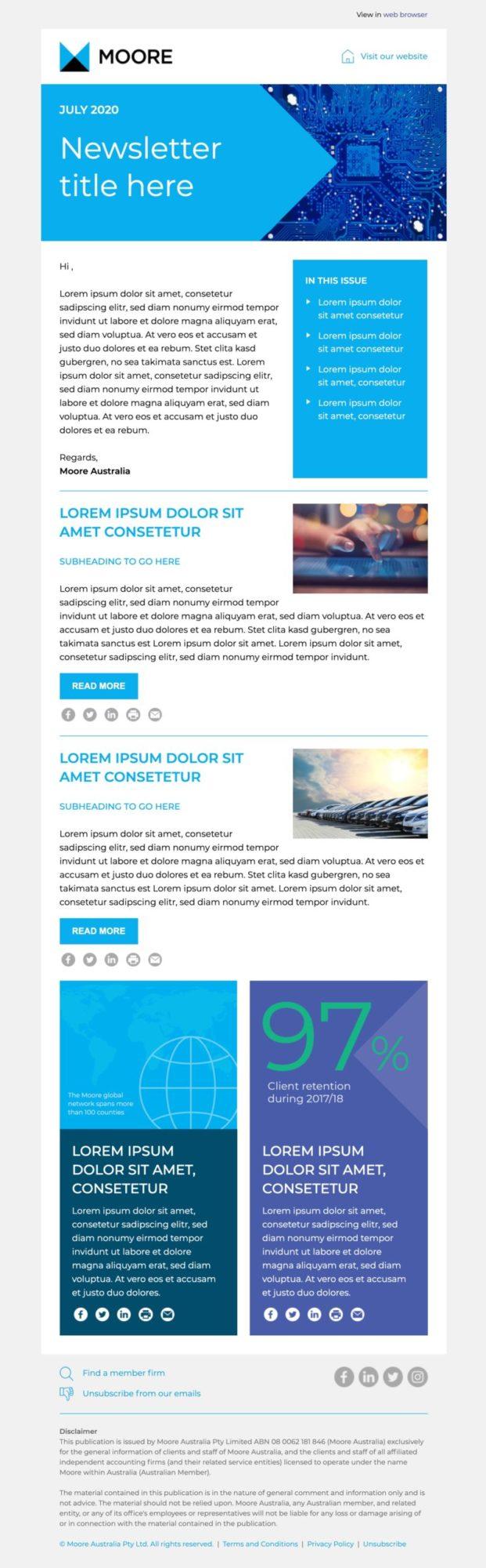 Moore Australia Newsletter