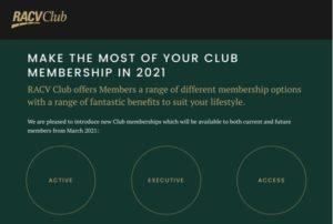 RACV Club Event Landing Page Swift Digtial