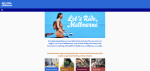 Victoria Government Let's Ride Swift Digital Landing Page