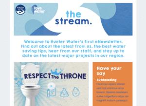 Hunter Water Newsletter Swift Digital