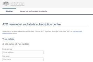 Australian Tax Office Subscription Form Swift Digital