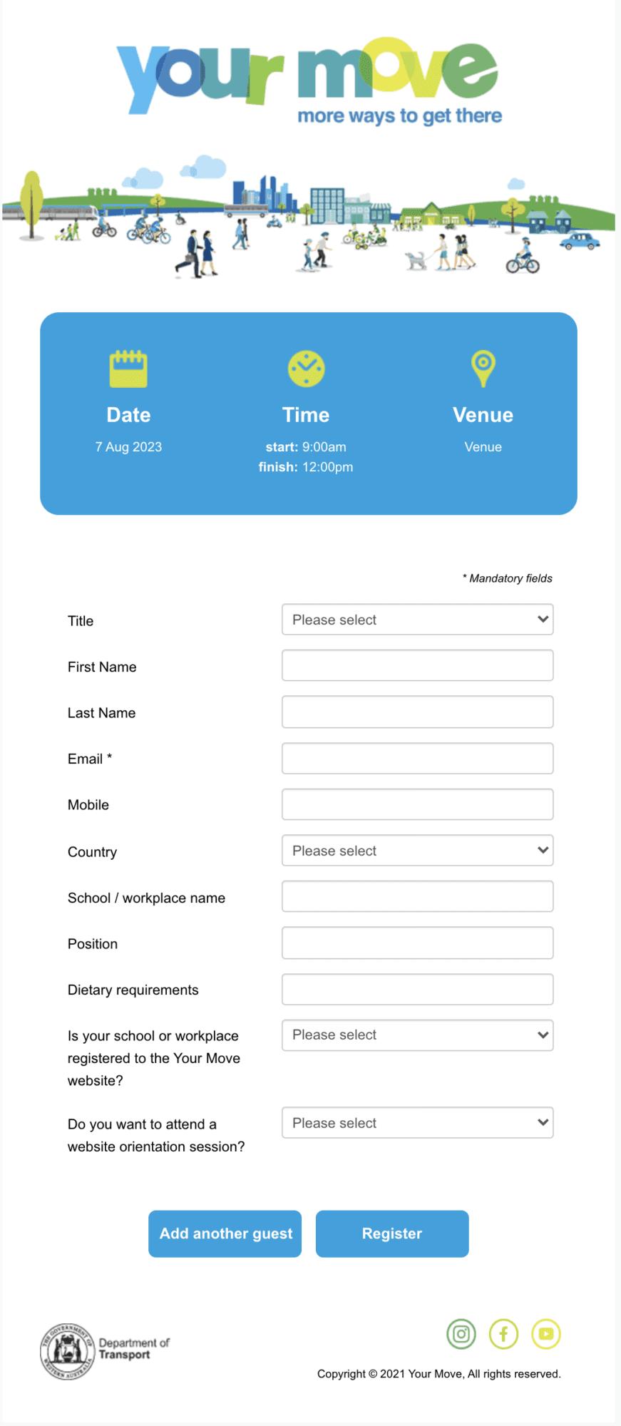 Transport WA Registration Form Swift Digital